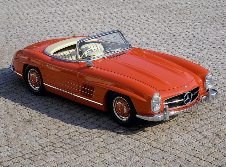 mercedes-190-sl-tre-quarti