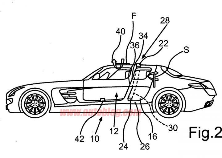 Mercedes Benz SLS 4 porte profilo