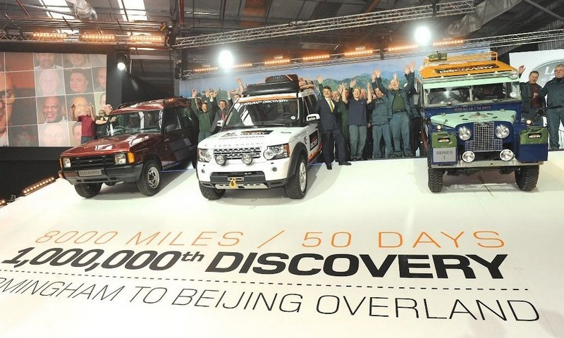 Da Birmingham a Pechino per la Land Rover 1.000.000 per beneficienza