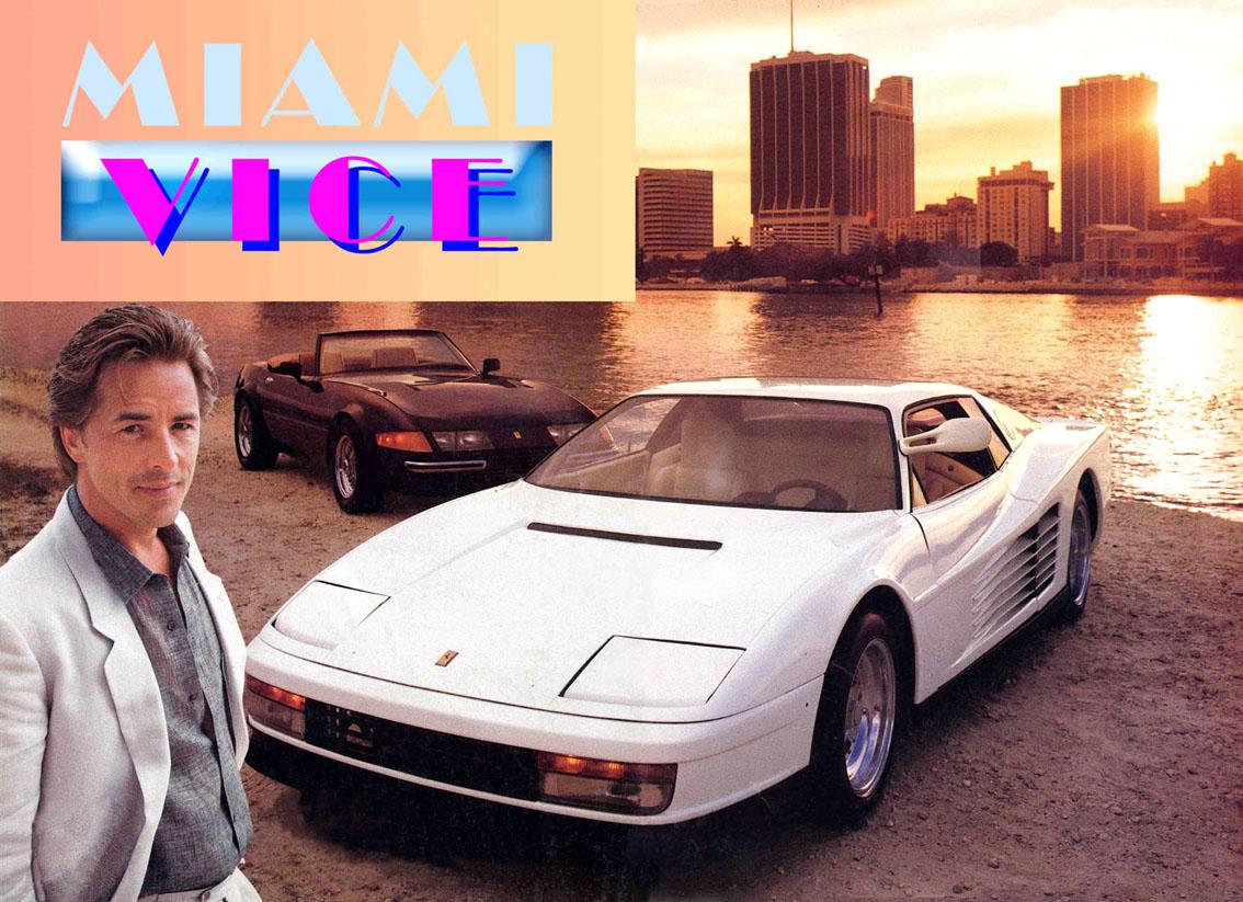 Auto E Cinema Ferrari Testarossa Di Miami Vice Cavalli
