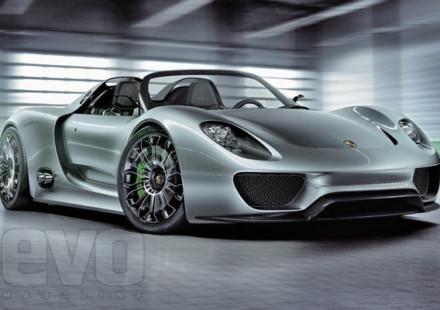 Test sul circuito di Nardò per la nuova Porsche 918
