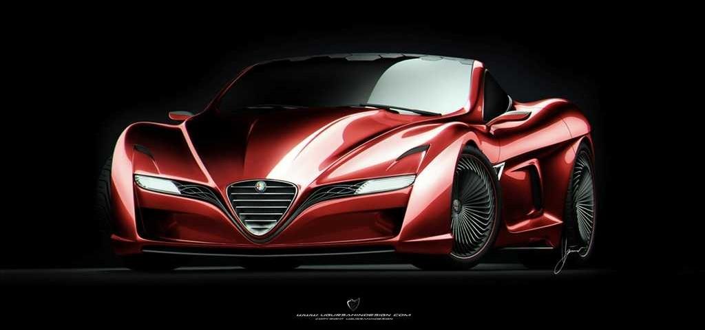 Concept car Alfa Romeo disegnata da Ugur Sahin