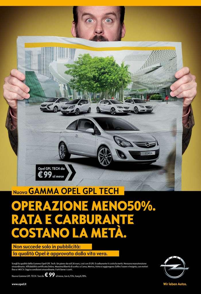 99 euro al mese per Opel GPL-Tech