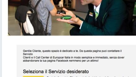 Europcar AppFacebook