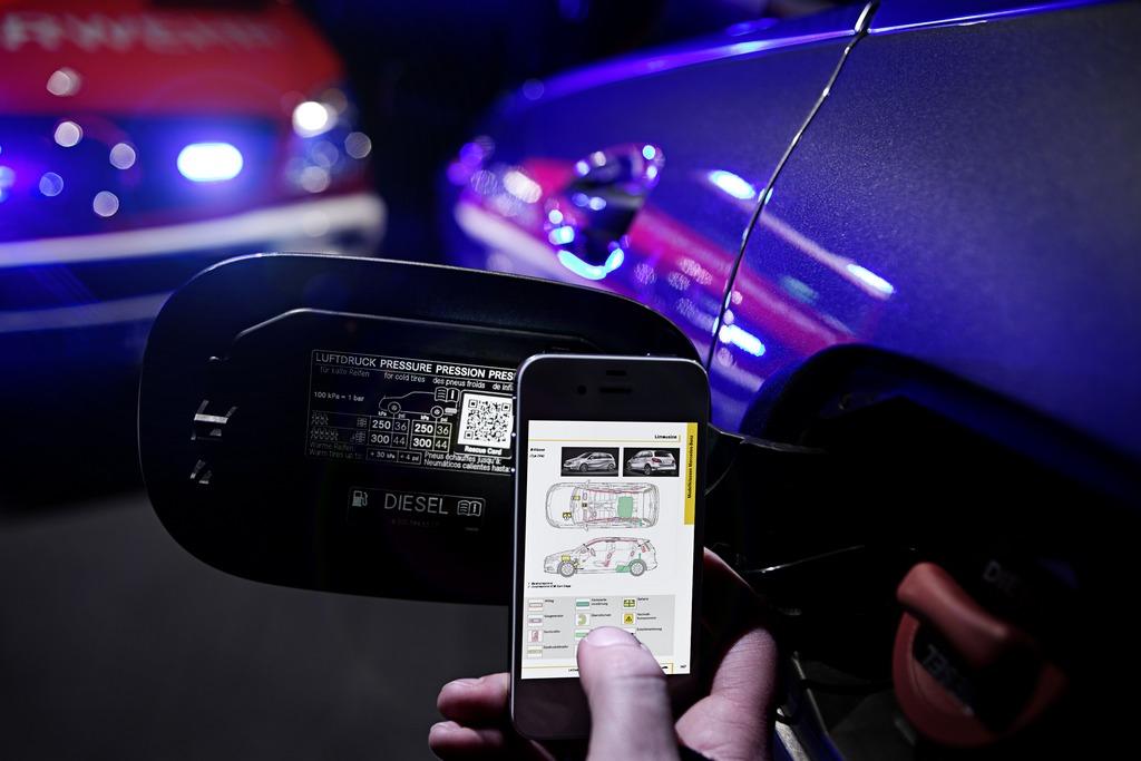 Mercedes QR Code di sicurezza