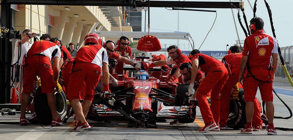 Pit-Stop Ferrari F1