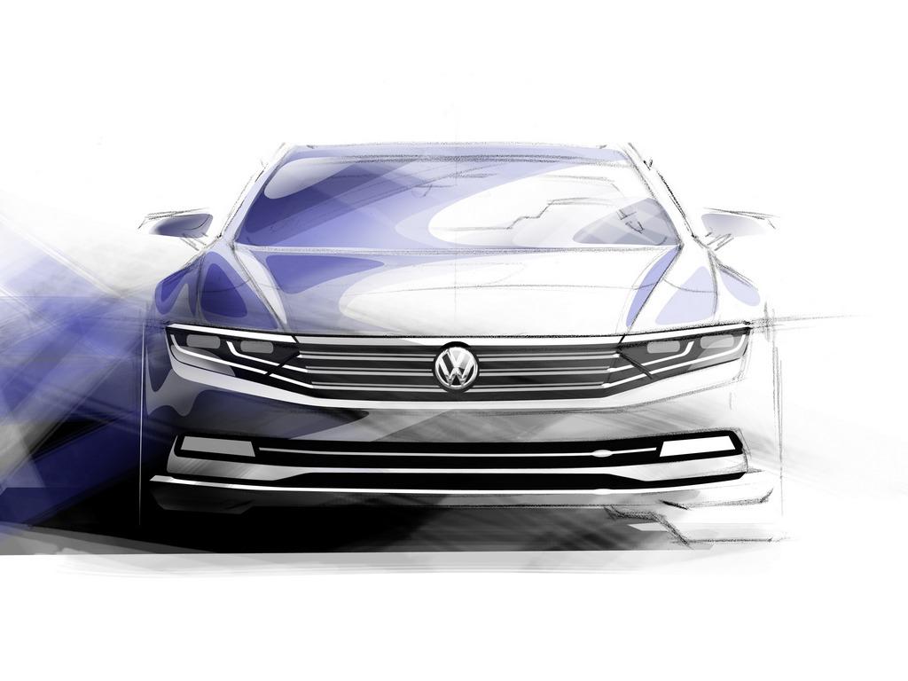Volkswagen Passat Sketch Ottava Generazione