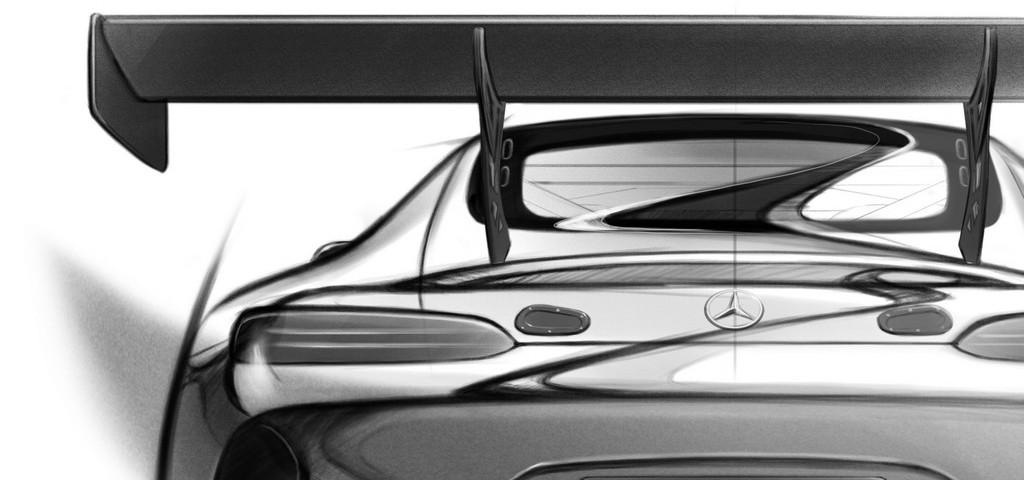AMG GT3 Sketch Dietro