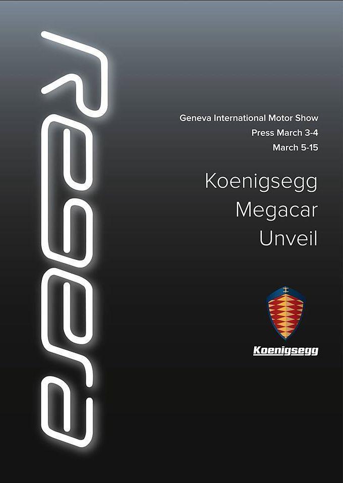 Koenigsegg Regera Megawatt Teaser
