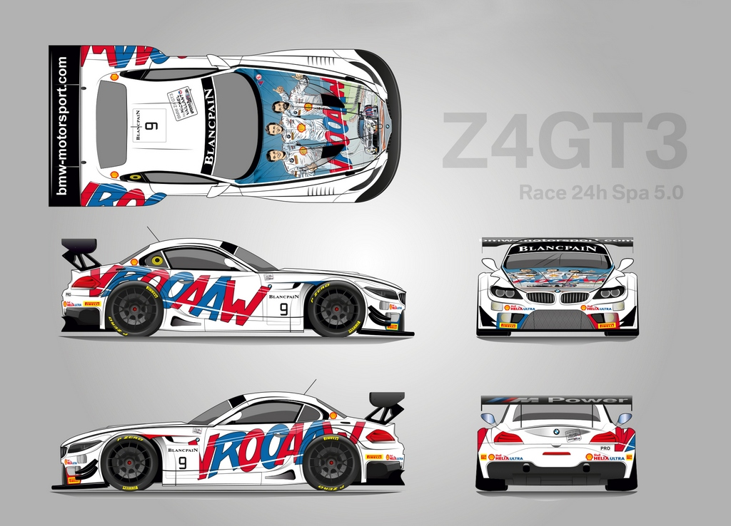 BMW Z4 GT3 Spa Vaillant