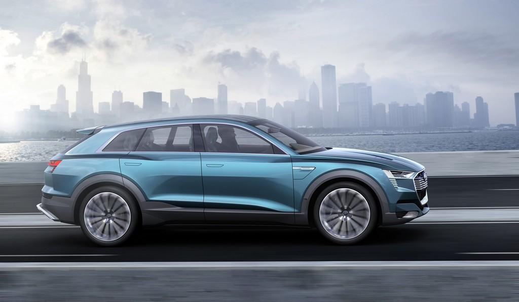 Audi e-tron quattro concept Lato Destro Dinamica