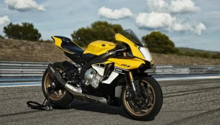 Yamaha YZF R1 60th Annversary Special Edition Gialla Nera Tre Quarti
