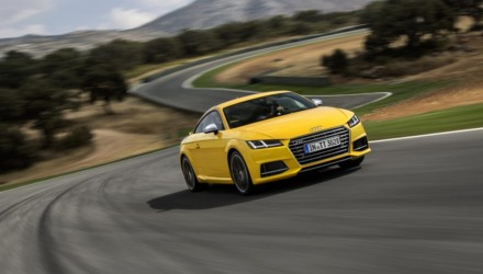 Audi nuova TTS Gialla Tre Quarti Dinamica