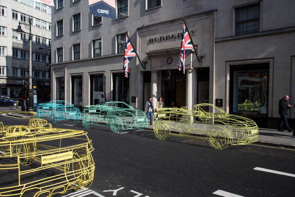 Range Rover Evoque Convertible WireFrame Londra 1