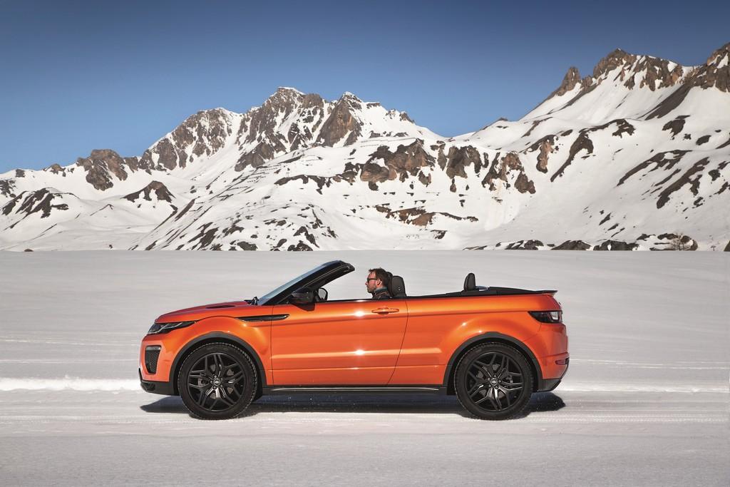 Range Rover Evoque Convertibile Lato Neve