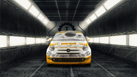 Fiat 500 Garage Italia Customs BB-8 Star Wars Davanti
