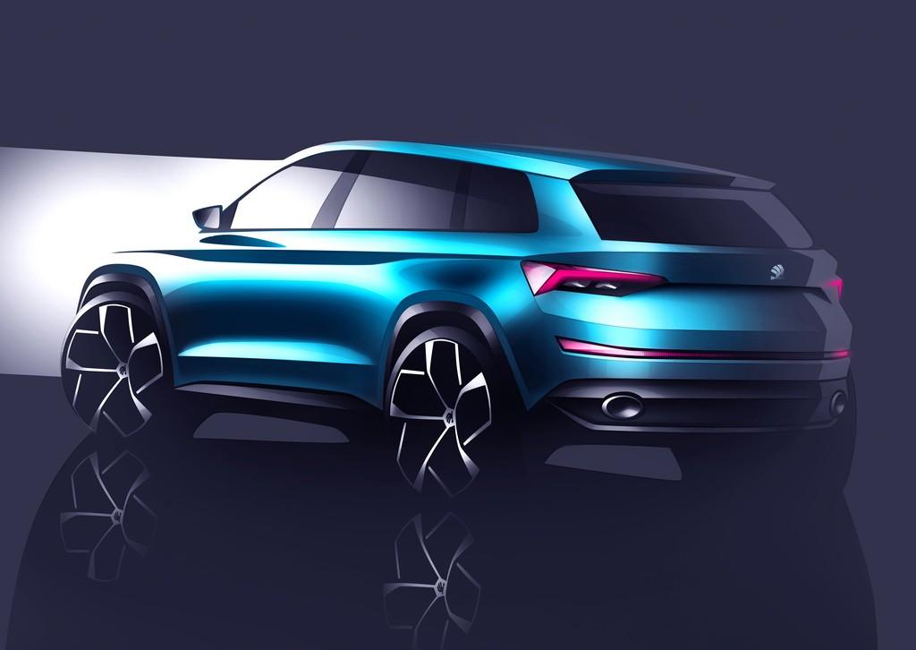 Skoda Vision S Concept Tre Quarti Posteriore