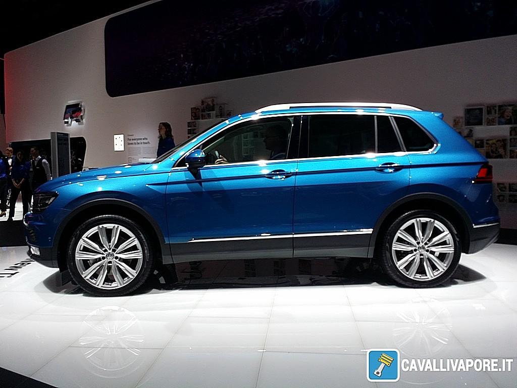 Volkswagen nuovo Tiguan LIVE GIMS 2016 Lato
