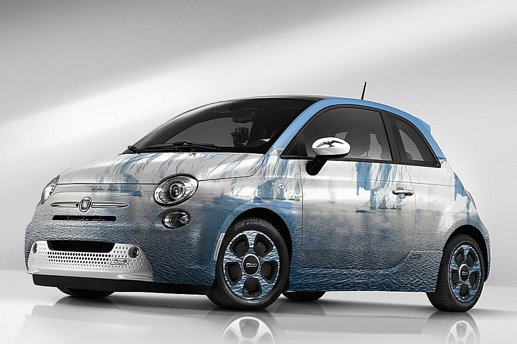 Fiat 500e Sea Ice Garage Italia Customs