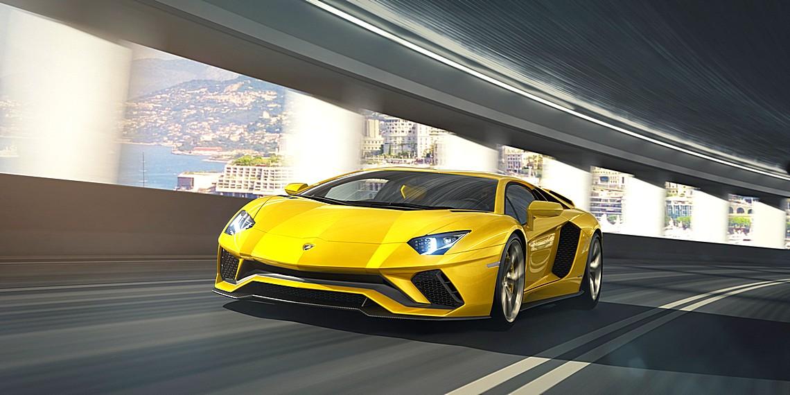 Lamborghini Aventador S Davanti Dinamica