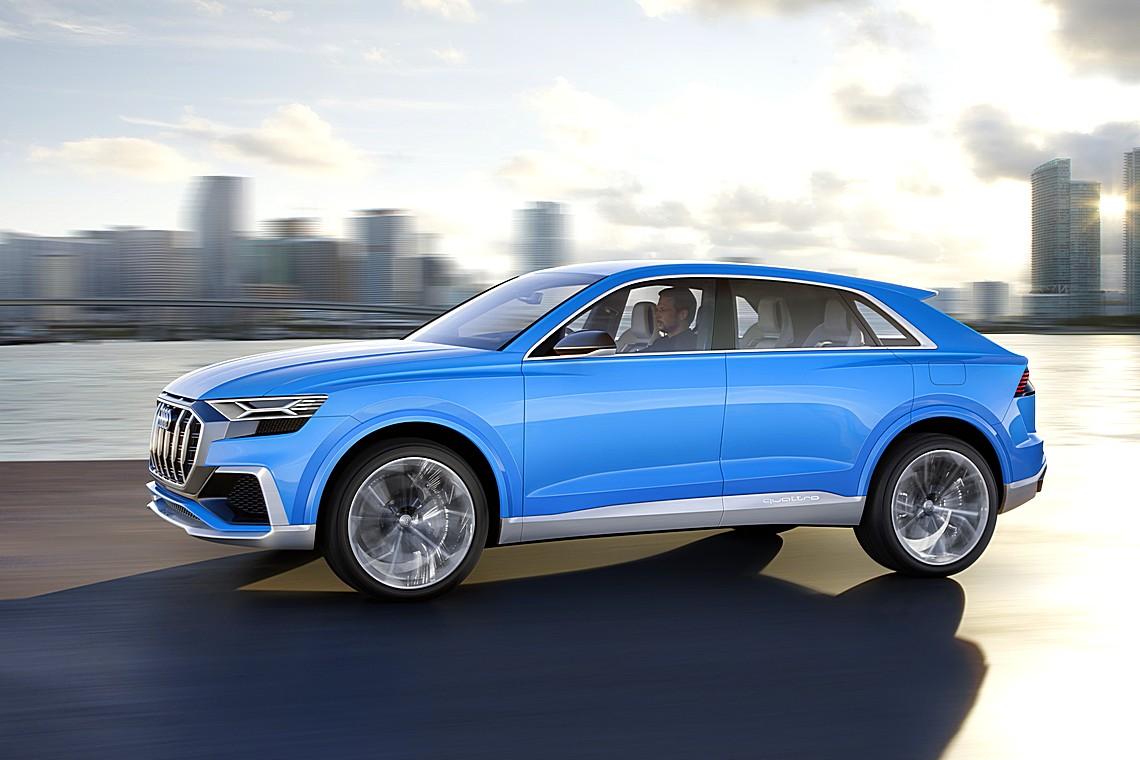 Audi Q8 Concept Lato Dinamica