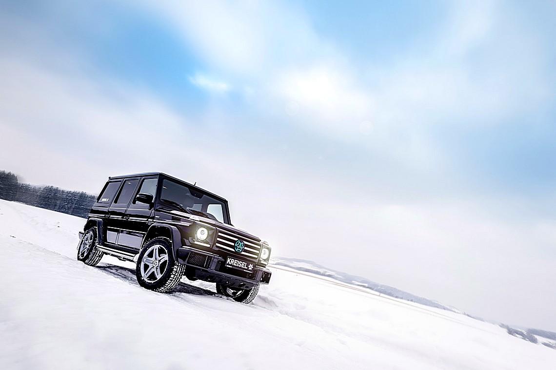 Mercedes G350d EV Kreisel 2