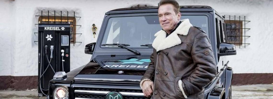 Mercedes G350d EV Kreisel Schwarzenegger