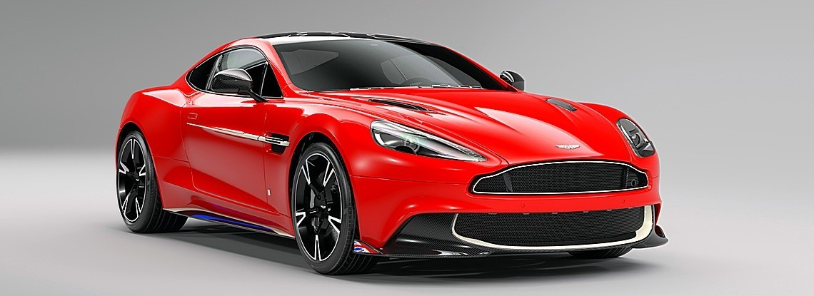 Aston Martin Vanquish Red Arrows Davanti