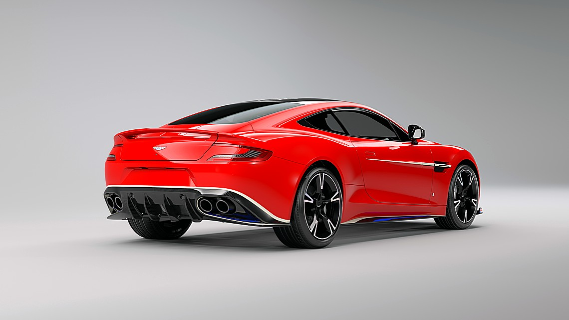 Aston Martin Vanquish Red Arrows Dietro