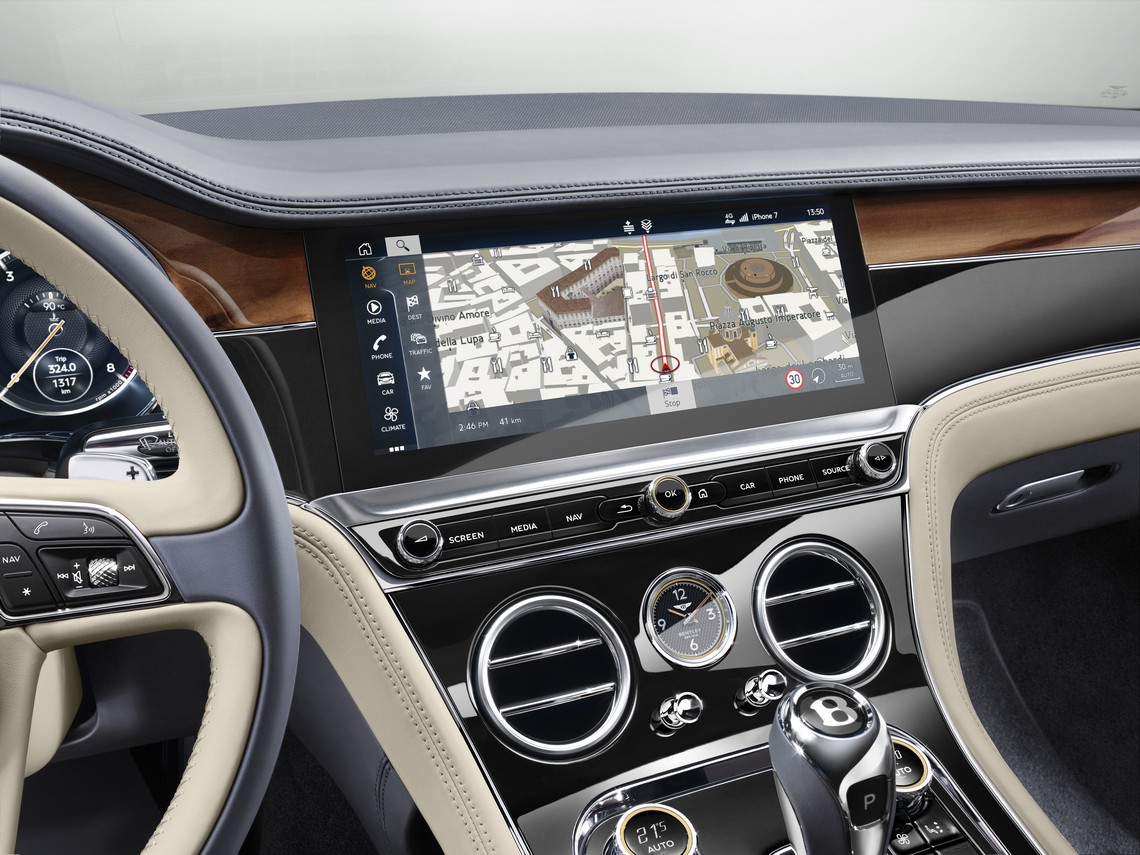 Bentley Continental GT Display