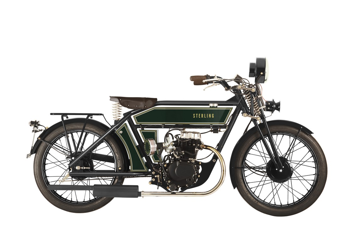 The Black Douglas Motorcycle Co Sterling Autocyle Verde Inglese