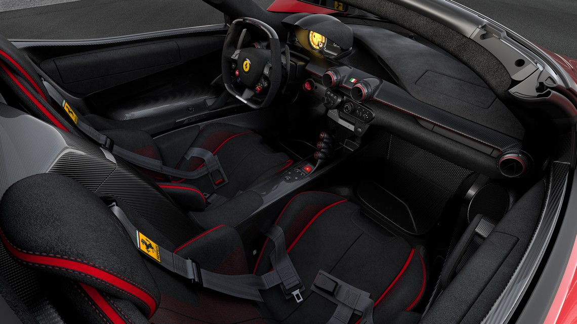 Ferrari LaFerrari Aperta Save The Children Interni