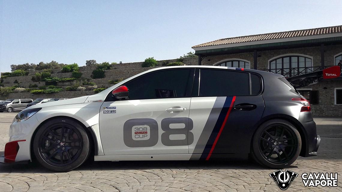Peugeot 308 Racing Test Drive Lato
