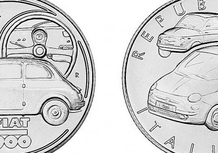 Moneta Argento Fiat 500