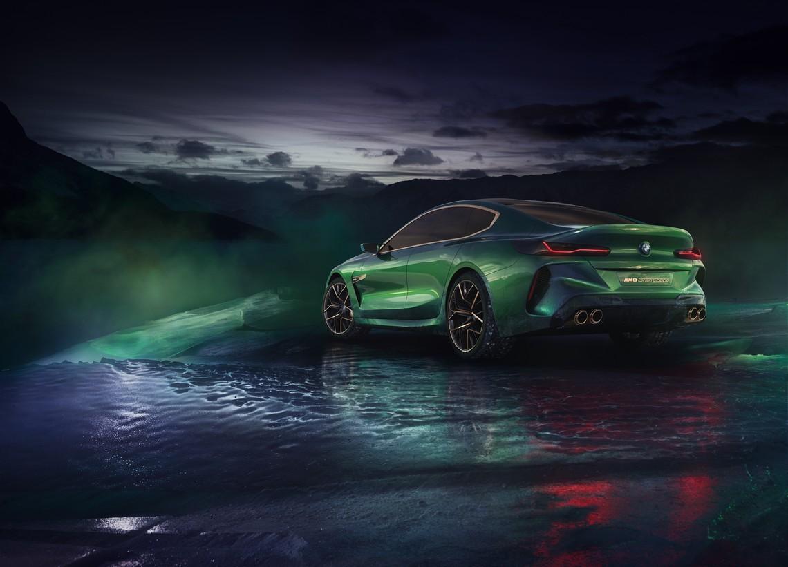 BMW M8 Gran Coupe Concept Tre Quarti Posteriore