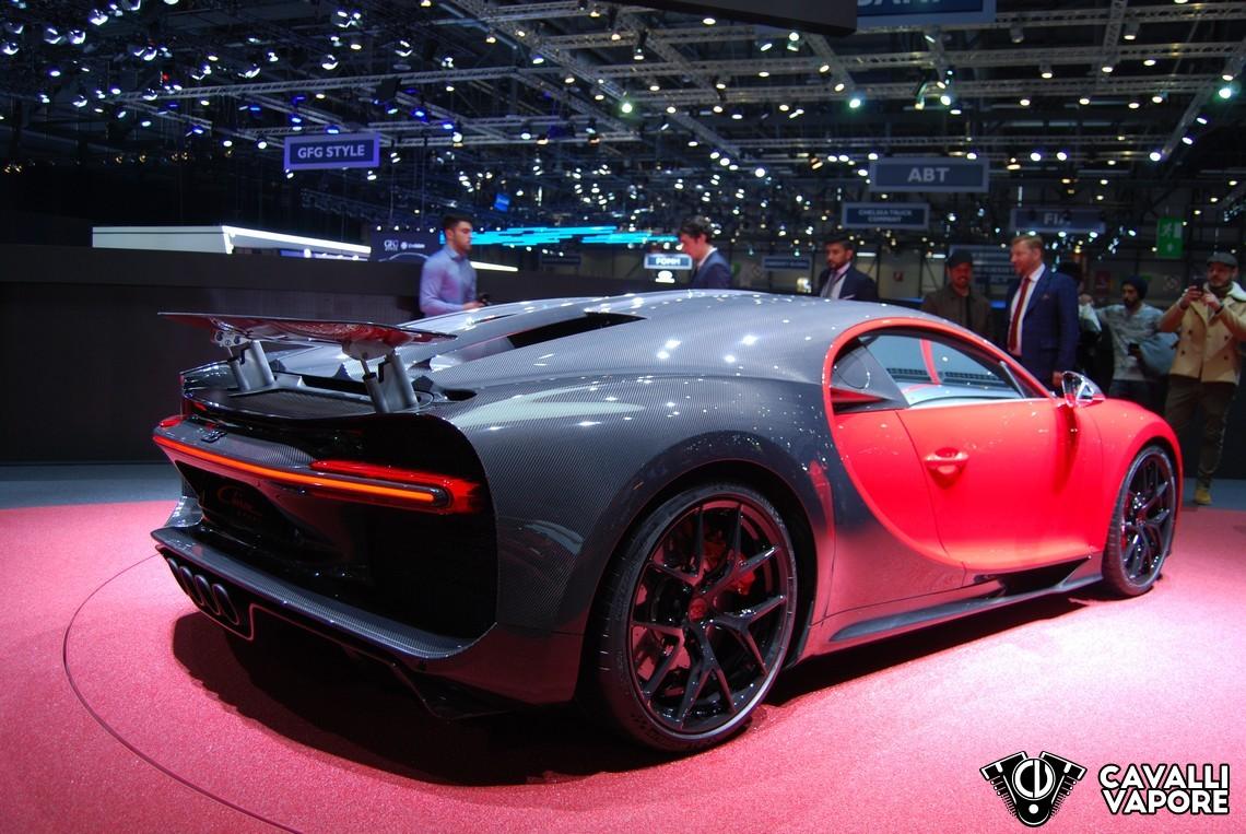 Bugatti Chiron Sport GIMS Tre Quarti Posteriore