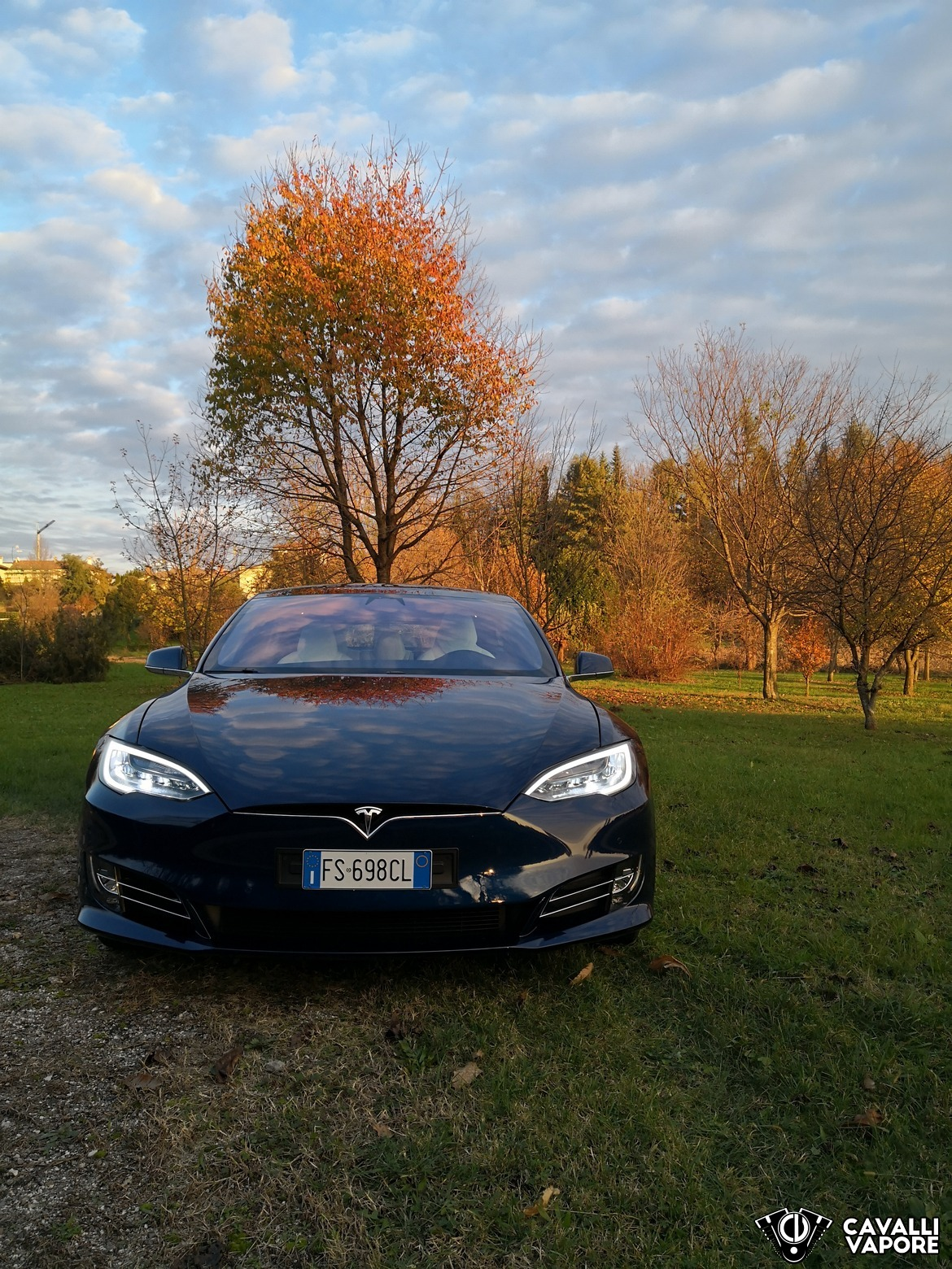 Tesla Model S 100D Davanti Autunno