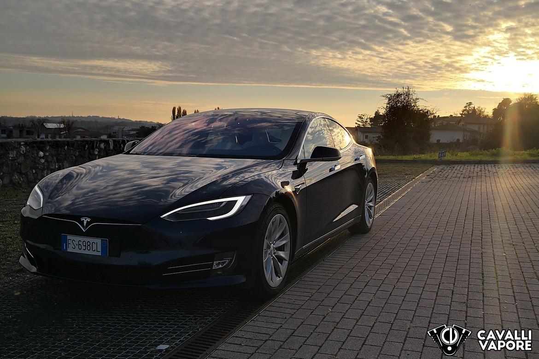 Tesla Model S 100D Tramonto
