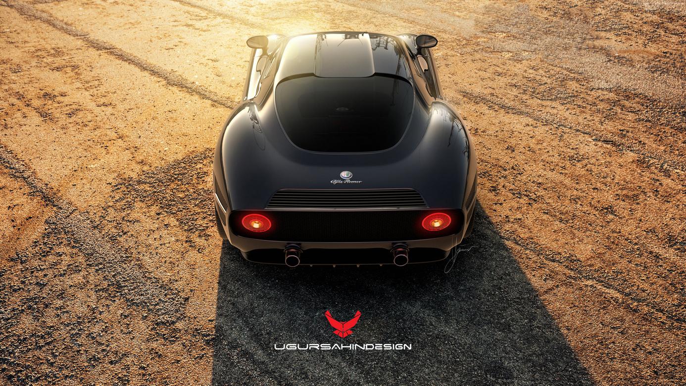 Alfa Romeo Nivola 2019 by Ugur Sahin Design Alto Dietro