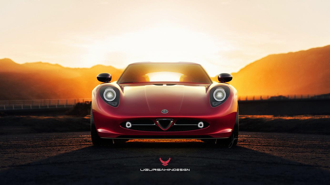 Alfa Romeo Nivola 2019 by Ugur Sahin Design Davanti Tramonto