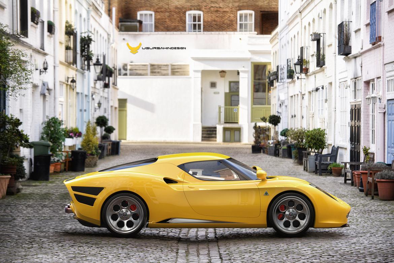 Alfa Romeo Nivola 2019 by Ugur Sahin Design Giallo Lato