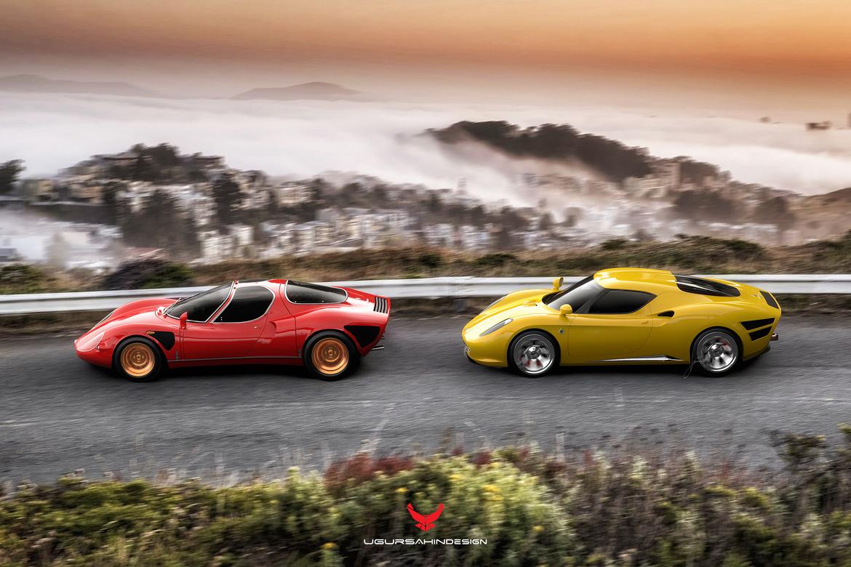 Alfa Romeo Nivola 2019 by Ugur Sahin Design con Alfa Stradale 33