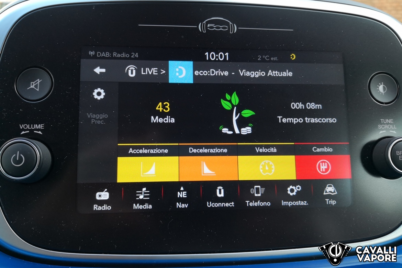 Fiat 500X Urban Infotainment Consumi