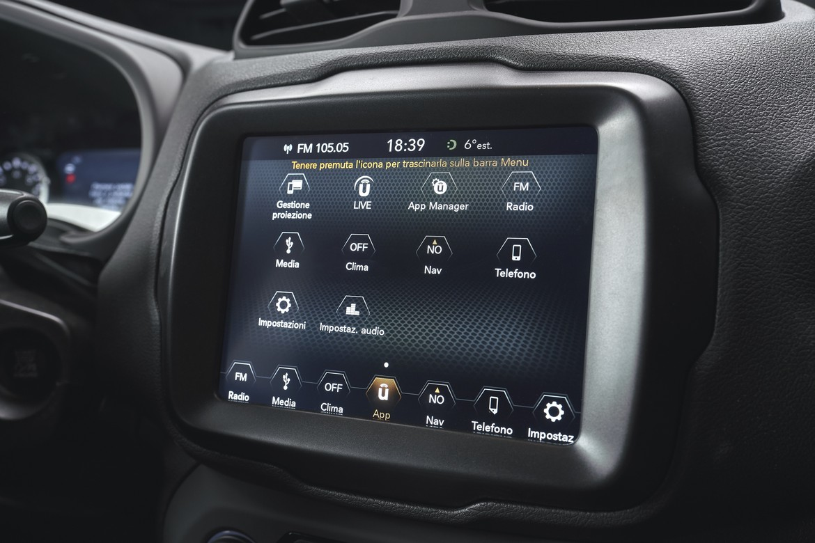 Jeep Renegade S Display
