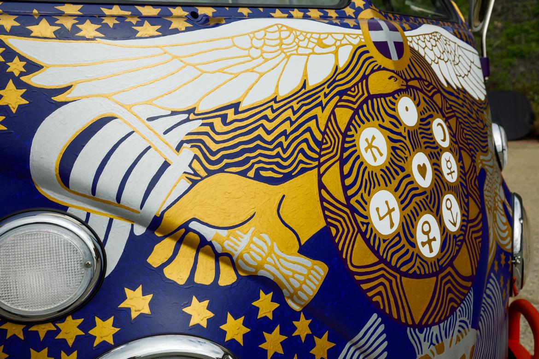 Vokswagen Light Bus Woodstock Dettaglio