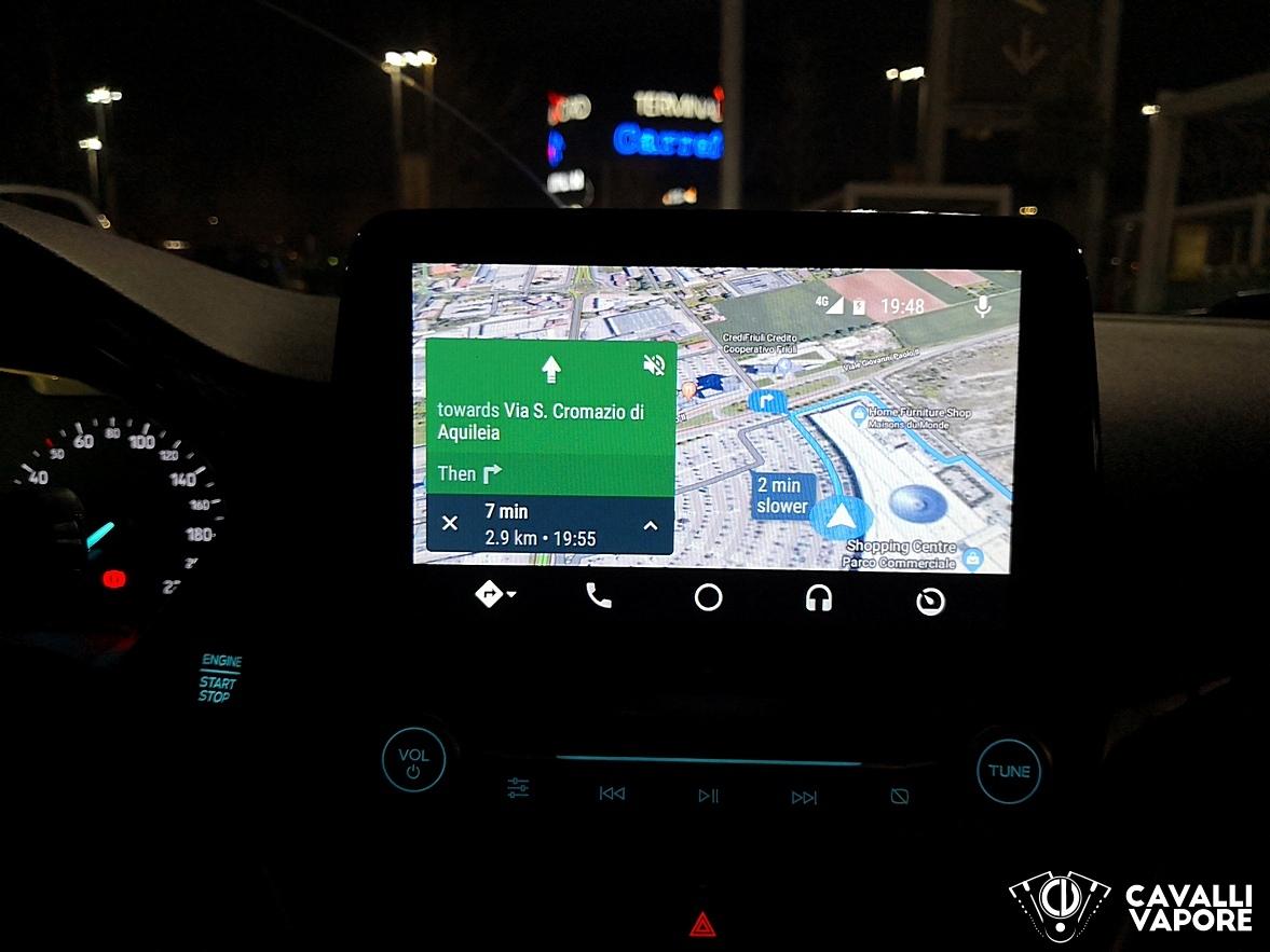 Ford Fiesta Active Prova su strada AndroidAuto