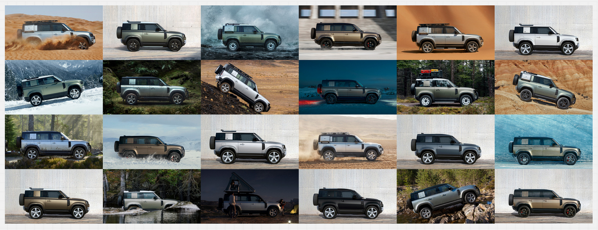 Nuovo Defender collage